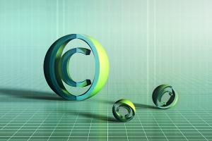 """Copyright Sign in 3D"", Image by Muses Touch"