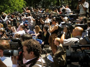 """Media in Central Park New York City"", Image by Ernst Moeksis"