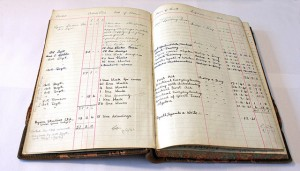 """Ledger Detailing External Work Commissioned at Holmes McDougall"", Image by Edinburgh City of Print"
