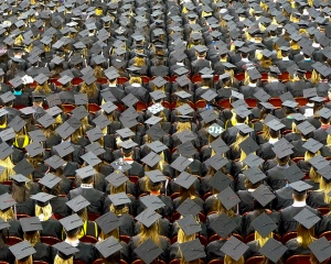 """Graduation Caps"", Image by John Walker"