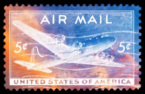 """Vibrant US Air Mail Stamp"", Image by Nicolas Raymond"